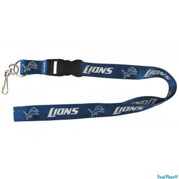 Detroit Lions lanyard keychain detachable | Final Playoff