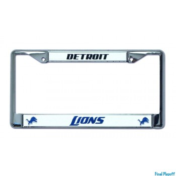 Detroit Lions license plate frame holder | Final Playoff