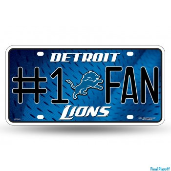 Detroit Lions metal license plate | Final Playoff