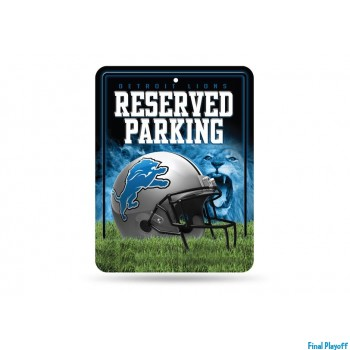 Detroit Lions metal parking sign | Final Playoff