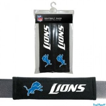 Detroit Lions seat belt pads | Final Playoff