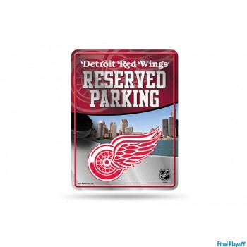 Detroit Red Wings metal parking sign | Final Playoff