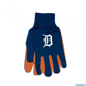 Detroit Tigers two tone utility gloves | Final Playoff