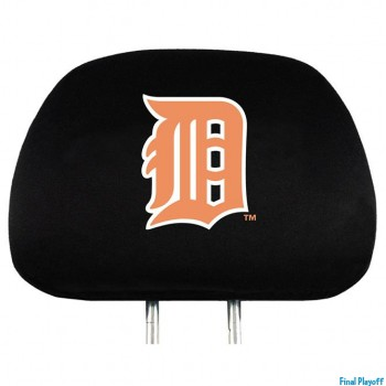 Detroit Tigers headrest covers 2pc   Final Playoff