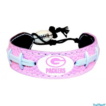Green Bay Packers leather bracelet pink | Final Playoff