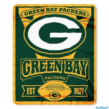 Green Bay Packers fleece throw blanket | Final Playoff