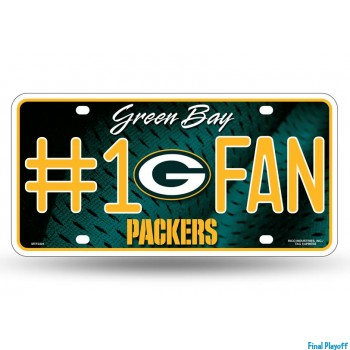 Green Bay Packers metal license plate | Final Playoff