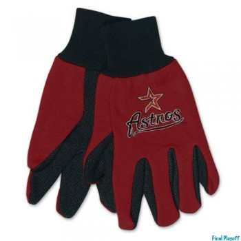 Houston Astros two tone utility gloves | Final Playoff