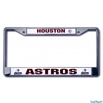 Houston Astros license plate frame holder | Final Playoff