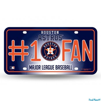Houston Astros metal license plate | Final Playoff