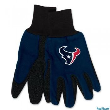 Houston Texans two tone utility gloves | Final Playoff