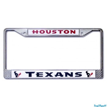 Houston Texans license plate frame holder | Final Playoff