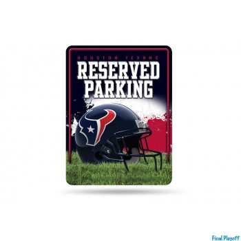 Houston Texans metal parking sign | Final Playoff