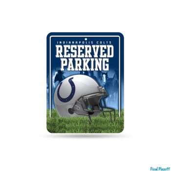 Indianapolis Colts metal parking sign | Final Playoff