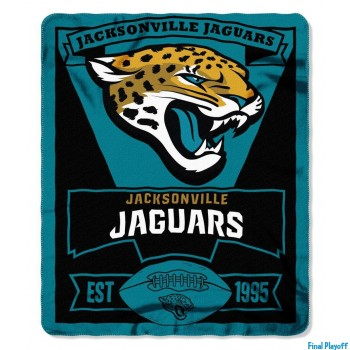 Jacksonville Jaguars fleece throw blanket | Final Playoff