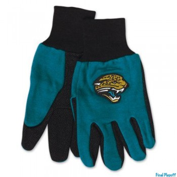 Jacksonville Jaguars two tone utility gloves | Final Playoff