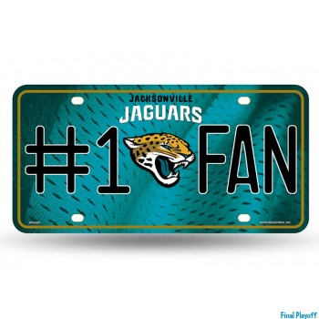 Jacksonville Jaguars metal license plate | Final Playoff