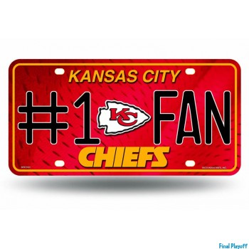 Kansas City Chiefs metal license plate | Final Playoff