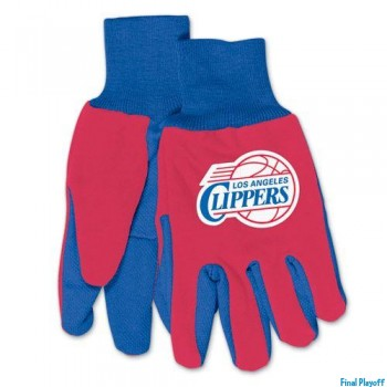 Los Angeles Clippers two tone utility gloves | Final Playoff
