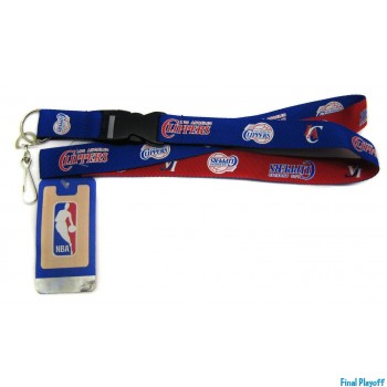 Los Angeles Clippers lanyard keychain detachable 2 tone | Final Playoff