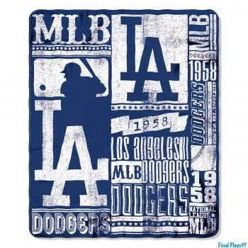 Los Angeles Dodgers fleece throw blanket | Final Playoff