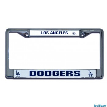 Los Angeles Dodgers license plate frame holder | Final Playoff
