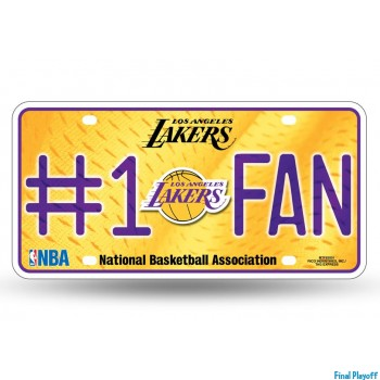 Los Angeles Lakers metal license plate | Final Playoff