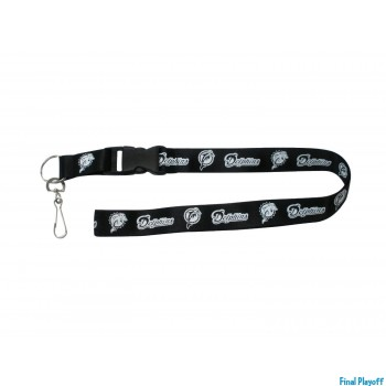 Miami Dolphins lanyard keychain detachable black | Final Playoff