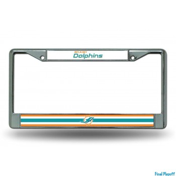 Miami Dolphins license plate frame holder | Final Playoff