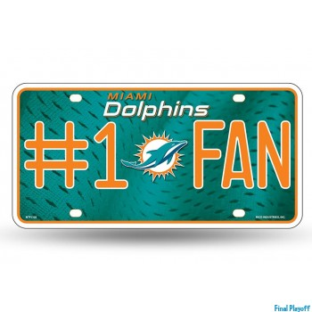 Miami Dolphins metal license plate | Final Playoff