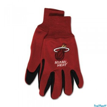 Miami Heat two tone utility gloves | Final Playoff