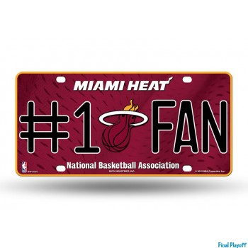Miami Heat metal license plate | Final Playoff
