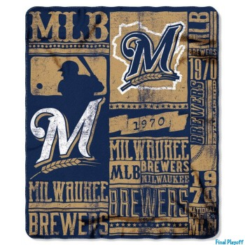 Milwaukee Brewers fleece throw blanket | Final Playoff