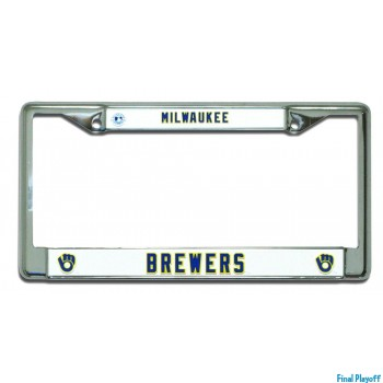 Milwaukee Brewers license plate frame holder | Final Playoff