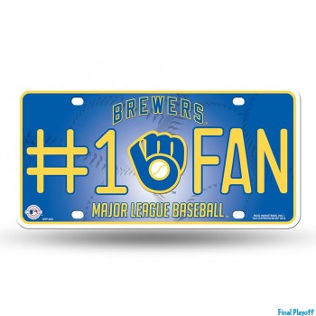 Milwaukee Brewers metal license plate | Final Playoff