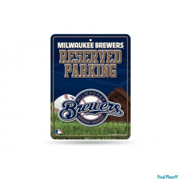 Milwaukee Brewers metal parking sign | Final Playoff