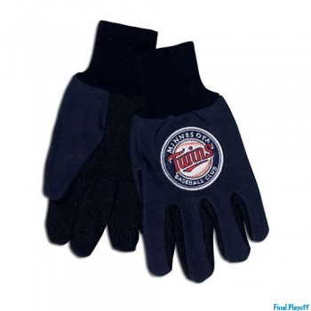 Minnesota Twins two tone utility gloves | Final Playoff