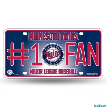 Minnesota Twins metal license plate | Final Playoff