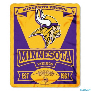 Minnesota Vikings fleece throw blanket | Final Playoff