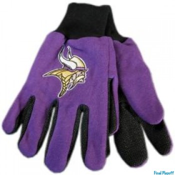 Minnesota Vikings two tone utility gloves | Final Playoff