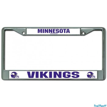 Minnesota Vikings license plate frame holder | Final Playoff