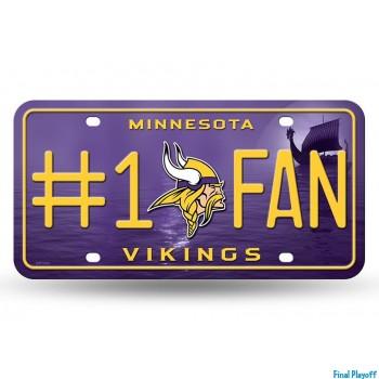 Minnesota Vikings metal license plate | Final Playoff