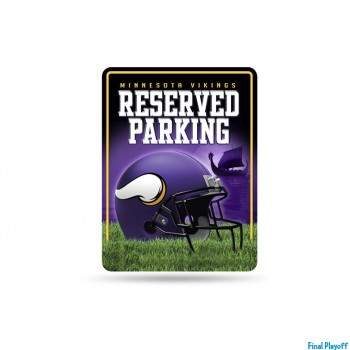 Minnesota Vikings metal parking sign | Final Playoff