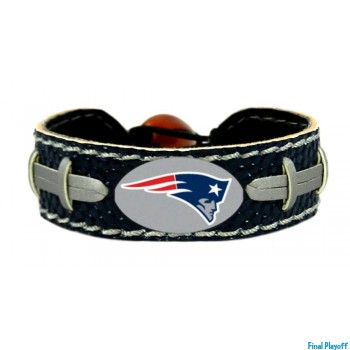 New England Patriots leather bracelet navy | Final Playoff