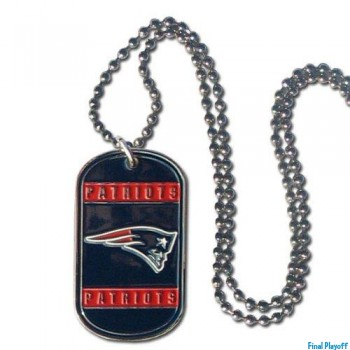 New England Patriots dog tag necklace | Final Playoff