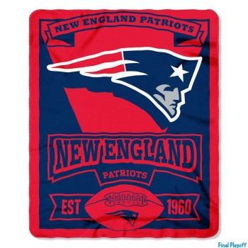 New England Patriots fleece throw blanket   Final Playoff