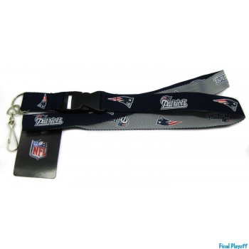 New England Patriots lanyard keychain detachable 2 tone | Final Playoff