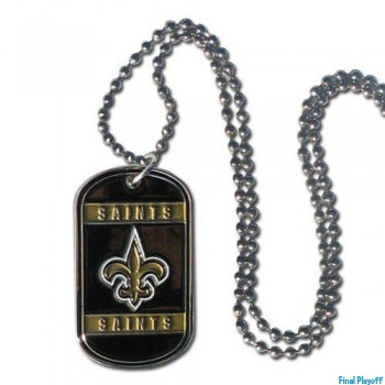 New Orleans Saints dog tag necklace | Final Playoff