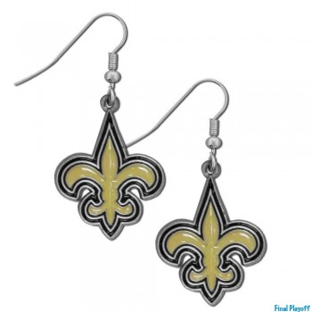 New Orleans Saints dangle earrings | Final Playoff