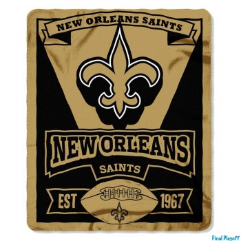New Orleans Saints fleece throw blanket | Final Playoff